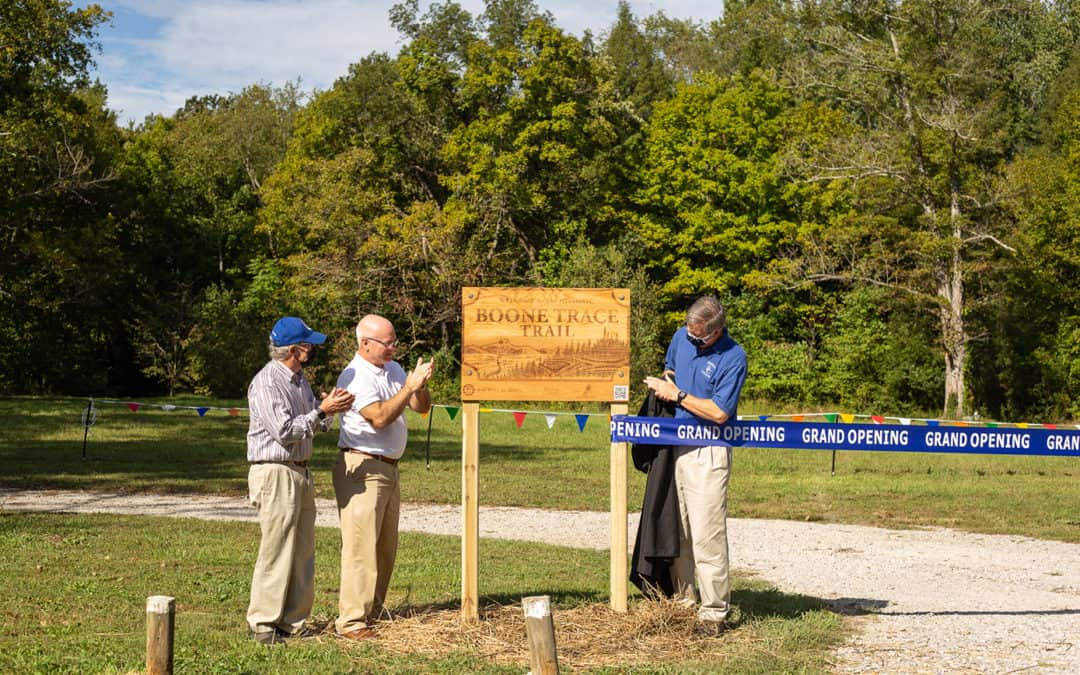 Boone Trace Trail Sign Unveiled and Celebrated with Ribbon Cutting