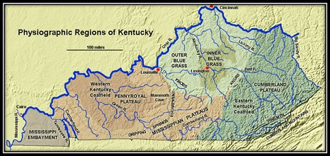 Physiographic Regions of Kentucky